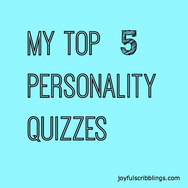 #My Top 5 Personality Quizzes