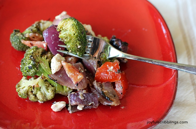 Grilled Broccoli and Onion Salad - JOYFUL scribblings