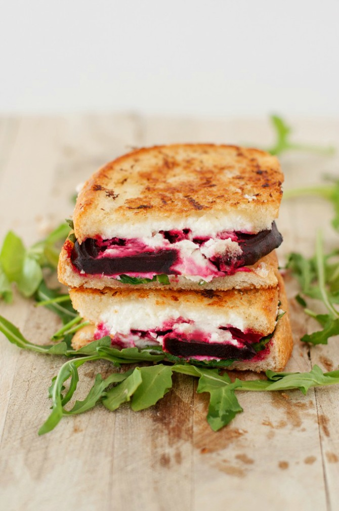 Beet, Arugula & Goat Cheese Grilled Cheese by BS in the Kitchen