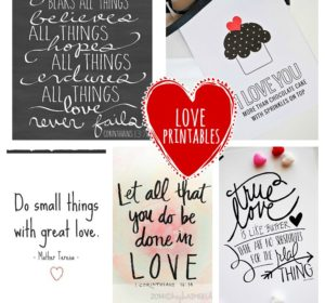 Five Free Printable Love Quotes